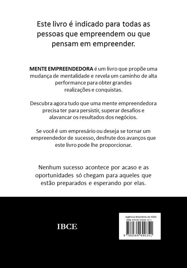 ContraCapa - Mente Empreendedora - 2ª edição